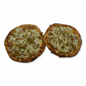 Mini pizza york queso